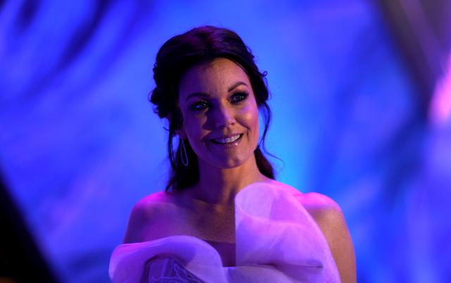 FILE PHOTO: Cast member Bellamy Young poses at the premiere of ''A Wrinkle in Time'' in Los Angeles, California, U.S., February 26, 2018.  REUTERS/Mario Anzuoni/File Photo