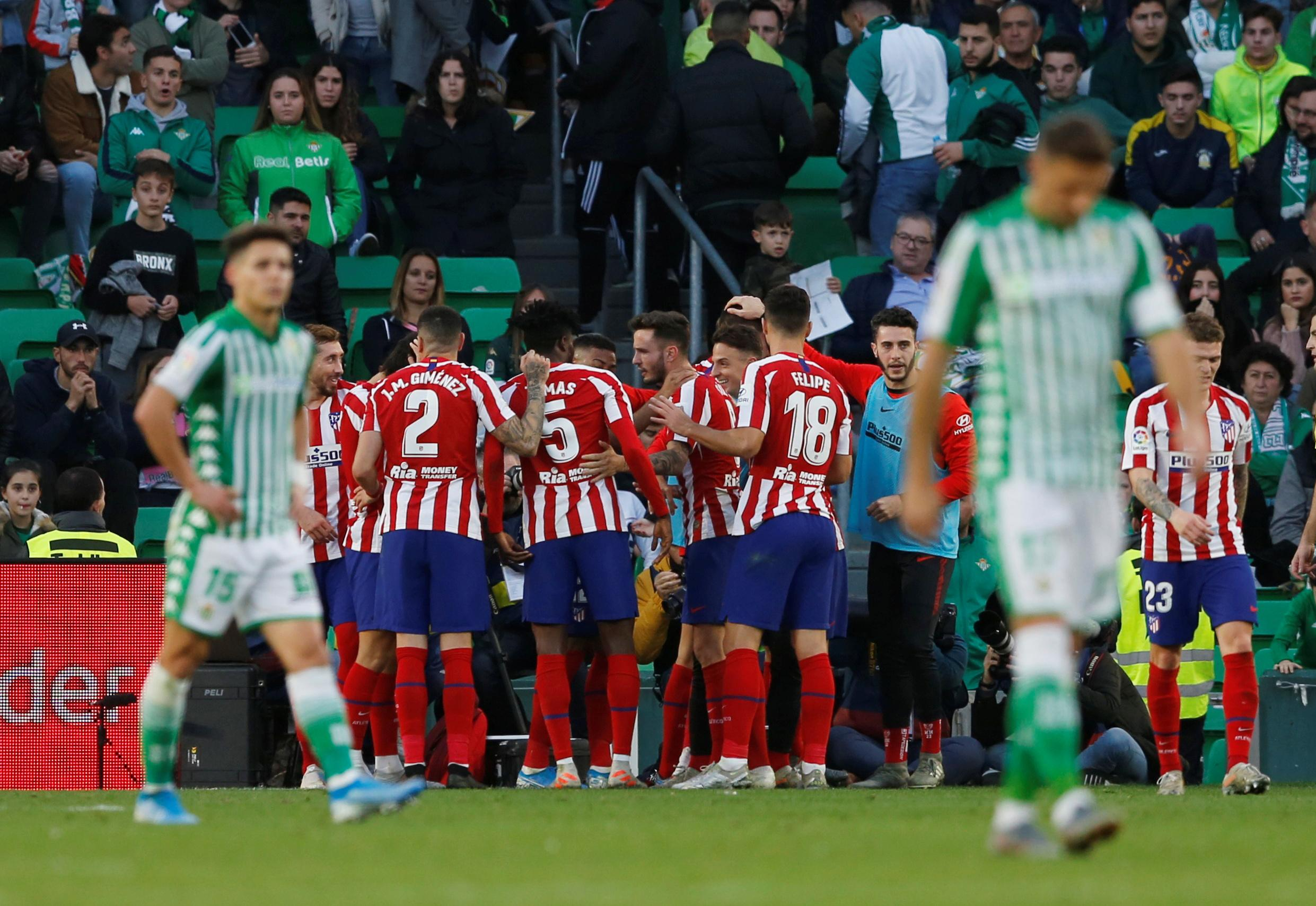 Atletico go fourth with win at Betis