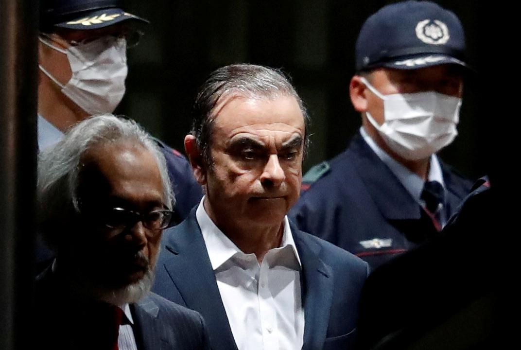 Former Nissan Motor chairman Carlos Ghosn leaves the Tokyo Detention House in Tokyo, Japan, April 25, 2019. Issei Kato
