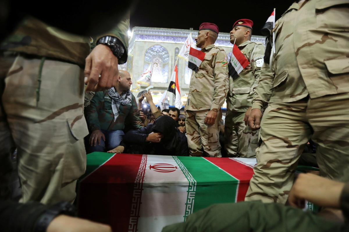 Body of top Iranian commander killed by U.S. strike in Iraq returned to Iran