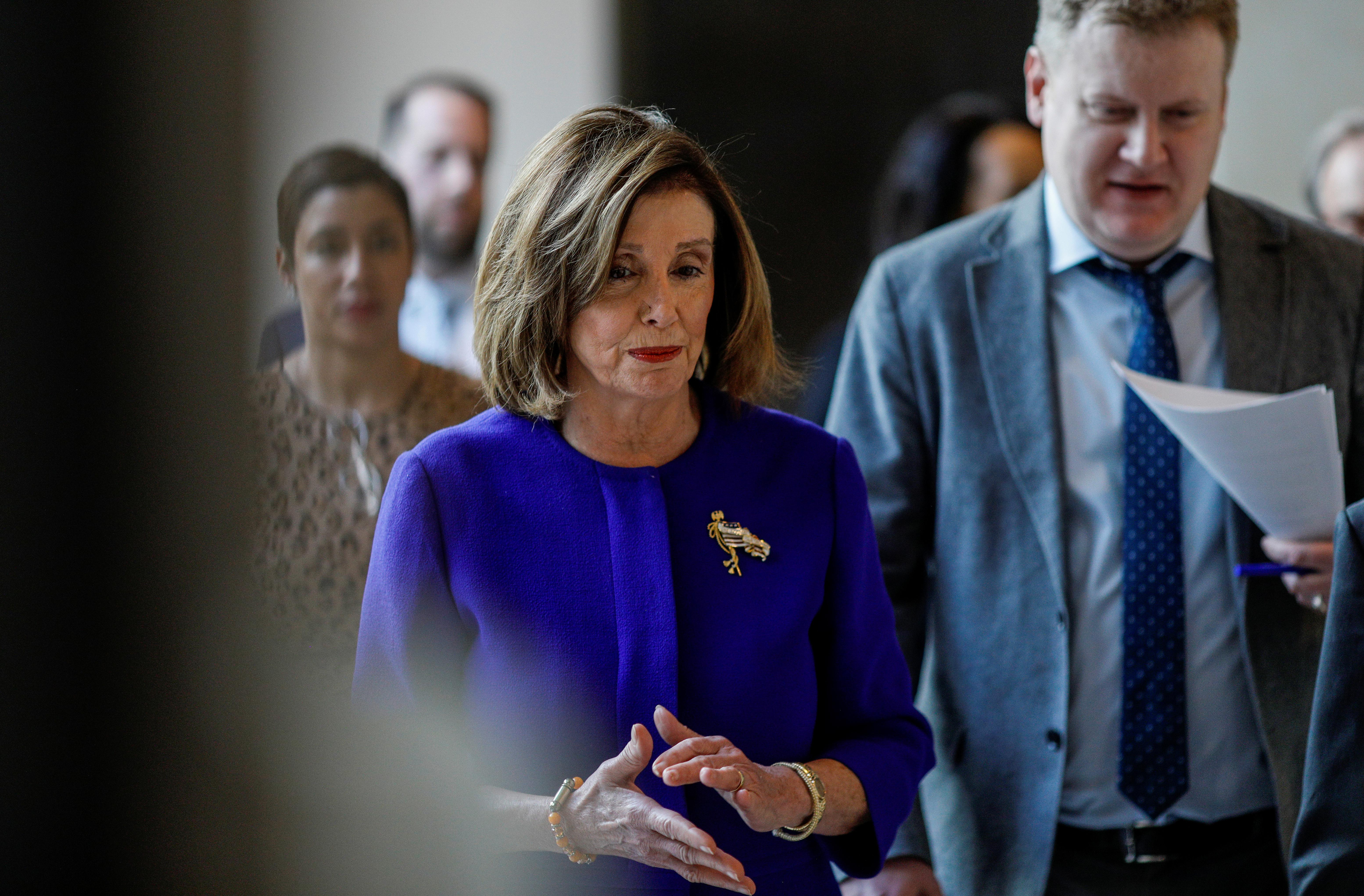 U.S. Speaker of the House Nancy Pelosi (D-CA) arrives for her weekly news conference at the U.S. Capitol in Washington, U.S., January 9, 2020. Tom Brenner