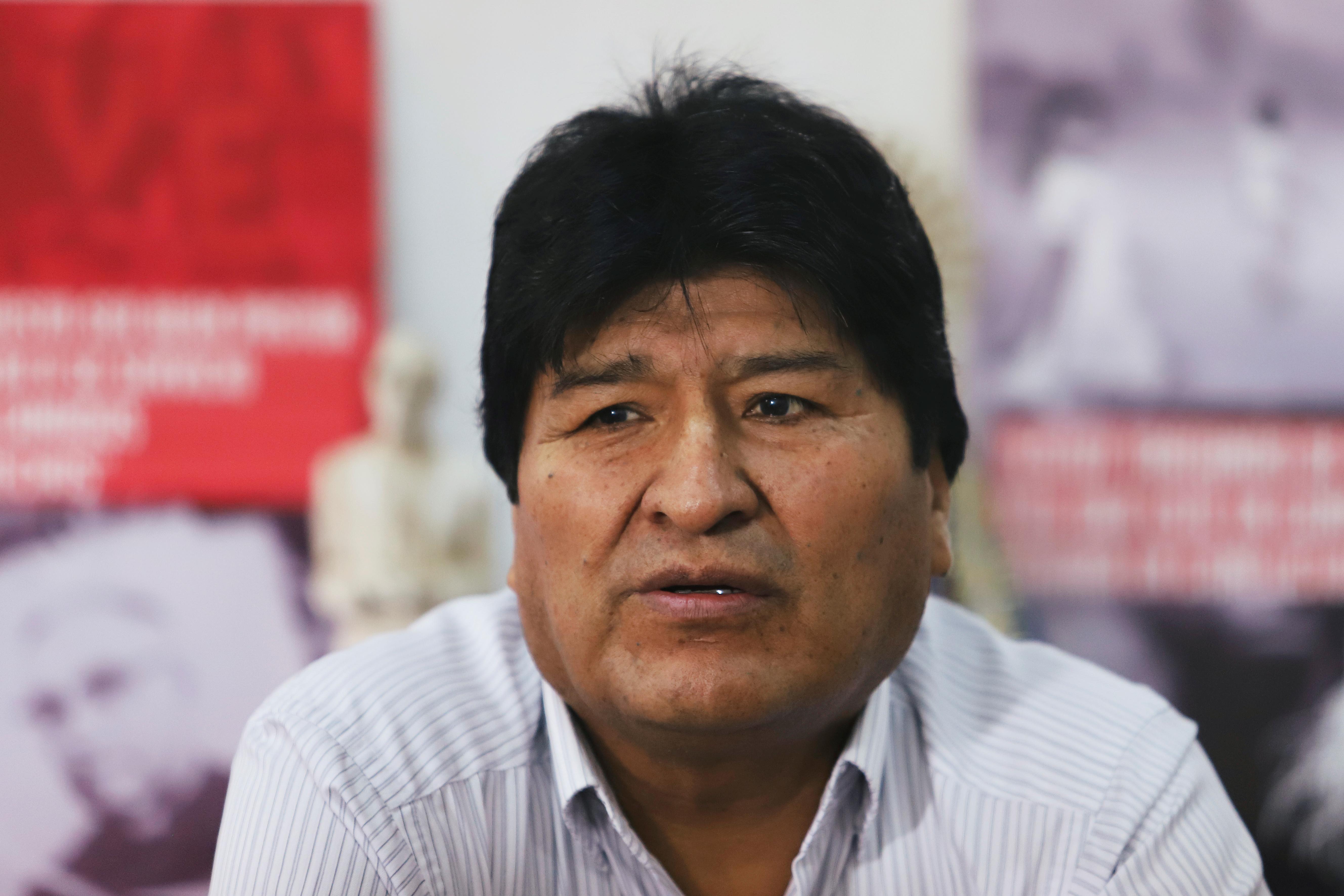 Bolivia exiled ex-president Morales calls on radio for armed militias