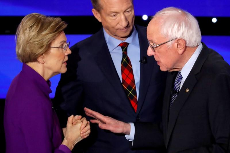 Investors see smoother path for U.S. stocks as Warren's election odds slip