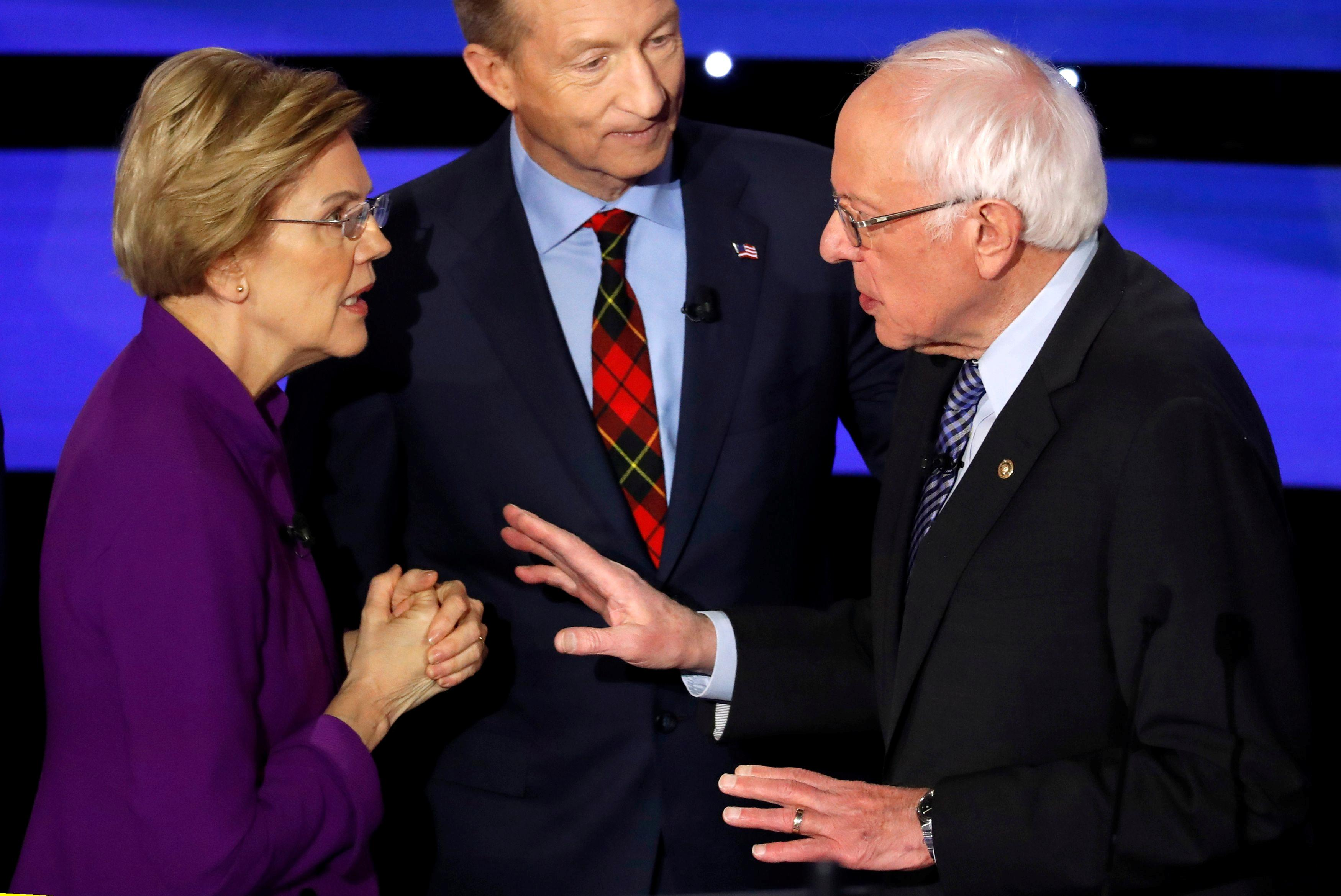 Flap with Warren knocks Sanders' strategy off course