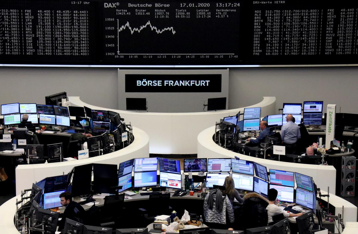 European shares touch all-time peak on cross-Atlantic trade optimism
