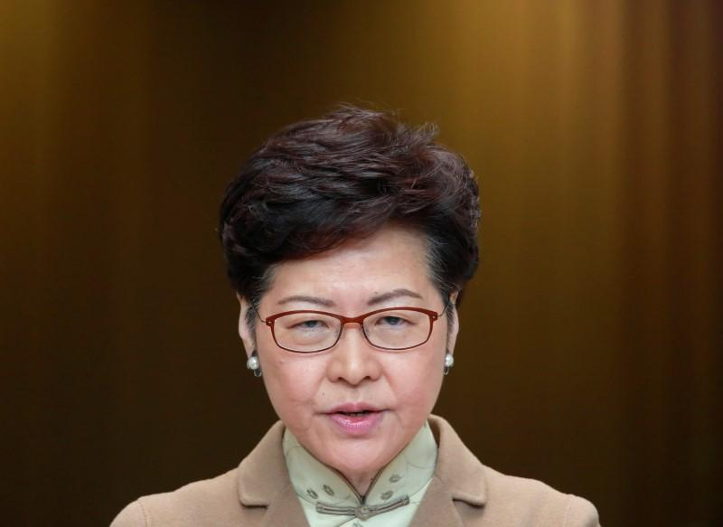 Hong Kong leader in Davos charm offensive as protests persist