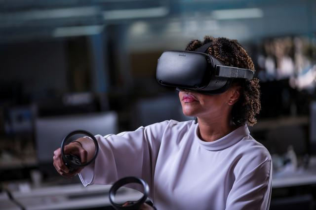 An Oculus Quest all-in-one VR device is shown in an undated 2019 photo released by Facebook January 22, 2020. Facebook/Handout via REUTERS