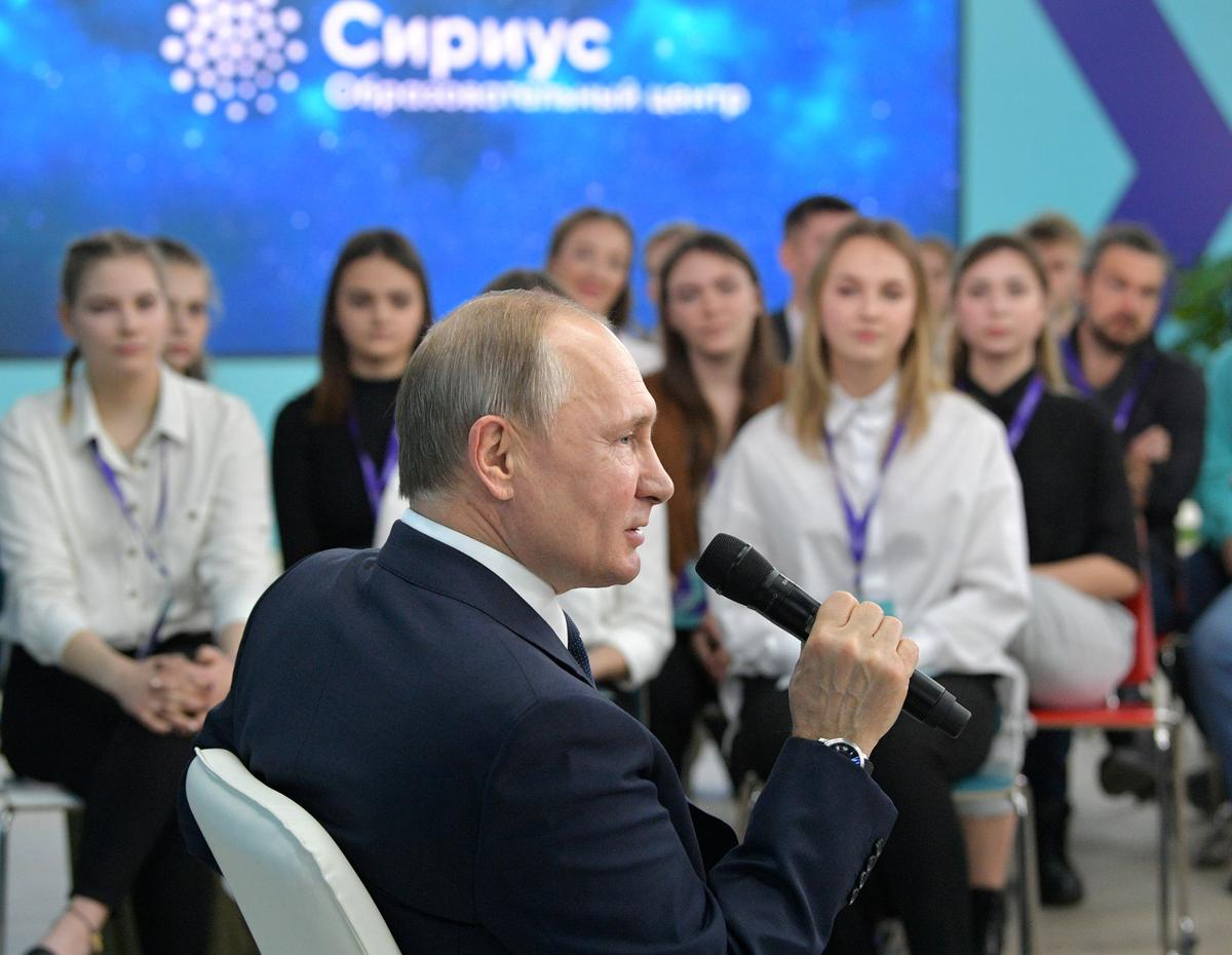 Putin says Russia has to be strong presidential republic