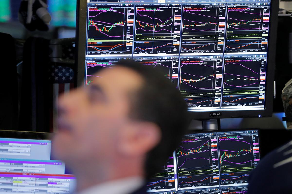 Stocks slide to two-week low on China virus fears, safe havens gain
