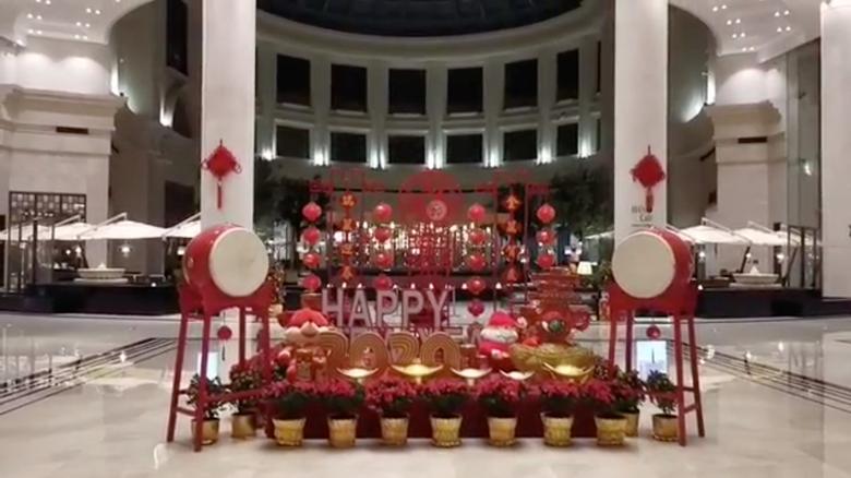 La entrada del hotel Intercontinental en Wuhan, 24 de enero. DEN DOLBNEV vía REUTERS