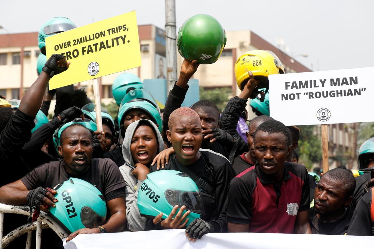 'Regulate Us-Not Kill Us': Lagos motorcycle taxi drivers march against ban