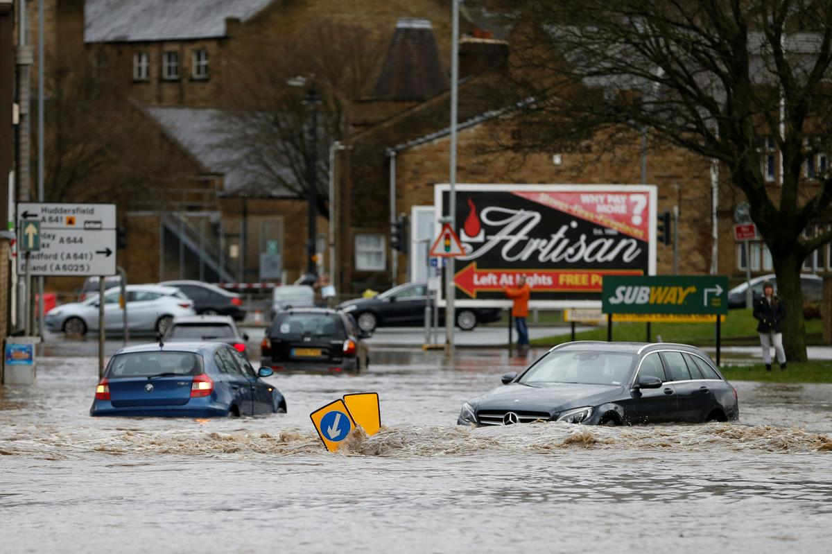 Flights axed and floods feared as Storm Ciara clobbers Europe
