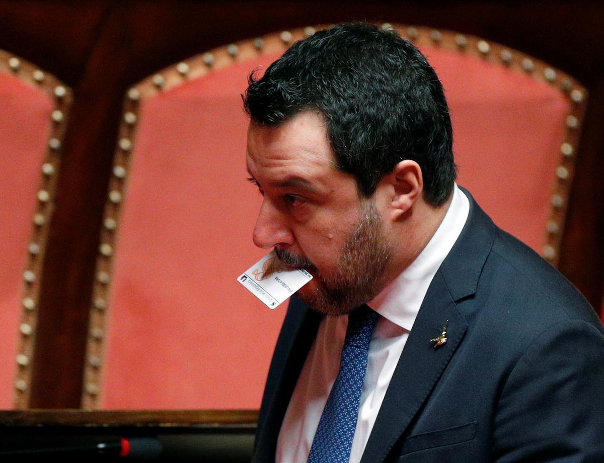 Put me on trial, defiant Salvini says in Italian migrant boat case