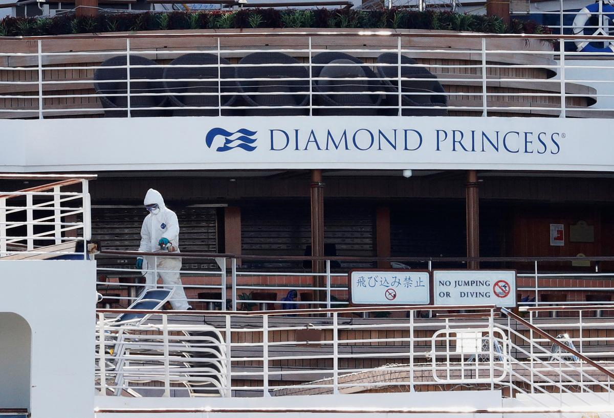 Hành khách trên tàu bị virus tấn công để bắt đầu khởi hành tại Nhật Bản