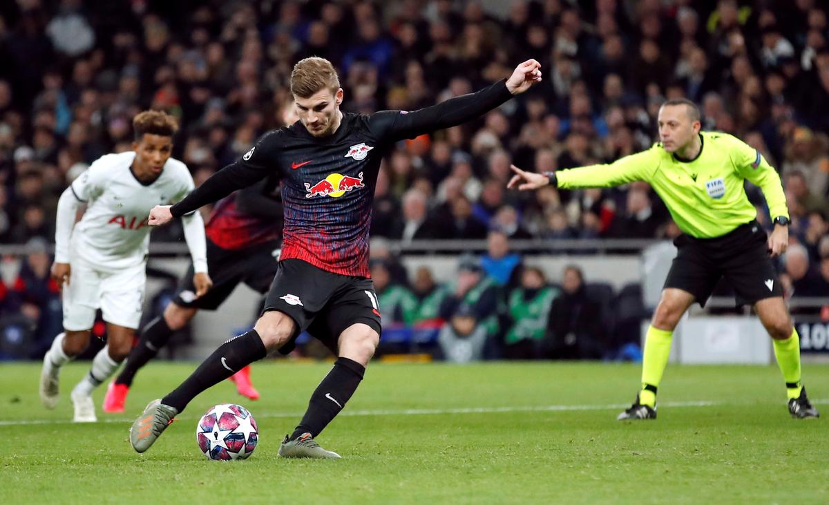 Werner penalty gives Leipzig 1-0 win at Tottenham