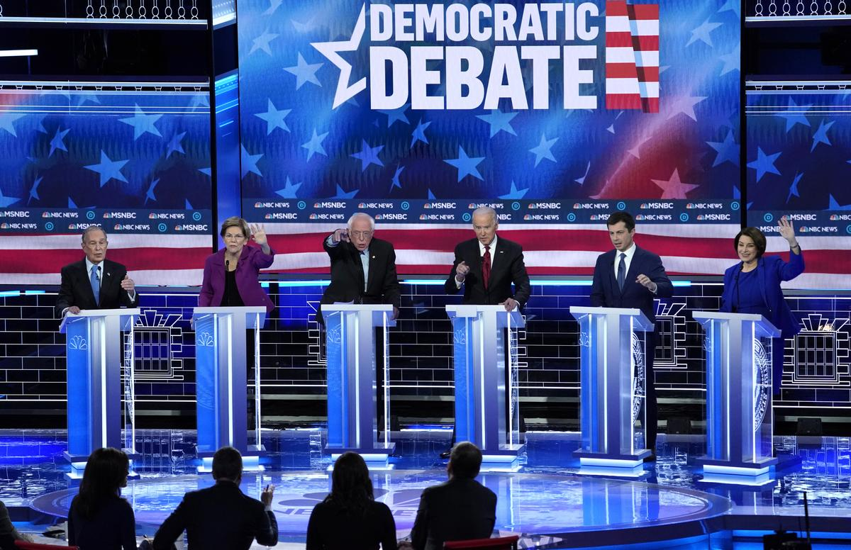 Bloomberg comes under scathing attack at first Democratic presidential debate in Nevada
