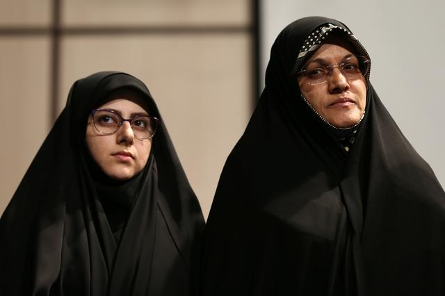 Iranian parliamentary candidates take part in an election campaign event in Tehran, Iran February 18, 2020. WANA (West Asia News Agency)/Nazanin Tabatabaee via REUTERS
