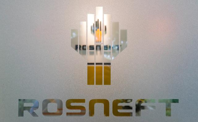 FILE PHOTO: The logo of Russia's oil company Rosneft is pictured at the Rosneft Vietnam office in Ho Chi Minh City, Vietnam April 26, 2018.   REUTERS/Maxim Shemetov
