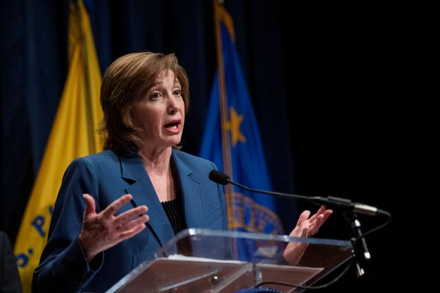 FILE PHOTO: Director of the Center for the National Center for Immunization and Respiratory Diseases (NCIRD) Dr. Nancy Messonnier speaks about the public health response to the outbreak of the coronavirus during a news conference at the Department of Health and Human Services (HHS) in Washington, U.S., January 28, 2020. REUTERS/Amanda Voisard