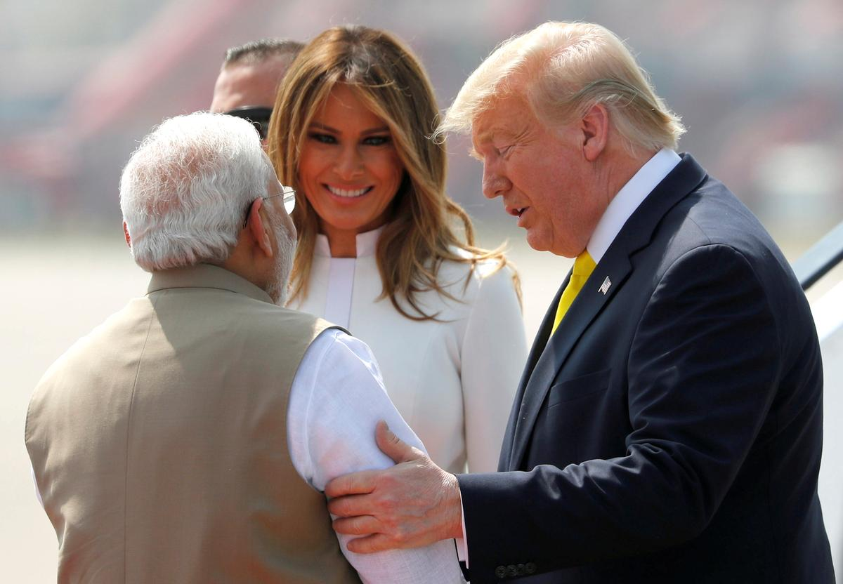 'Guest is God': Crowds gather to greet Trump as he lands in India