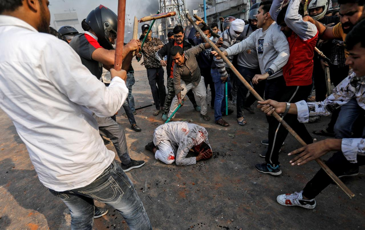 Image result for One killed, dozens injured in Delhi clashes as Trump visits