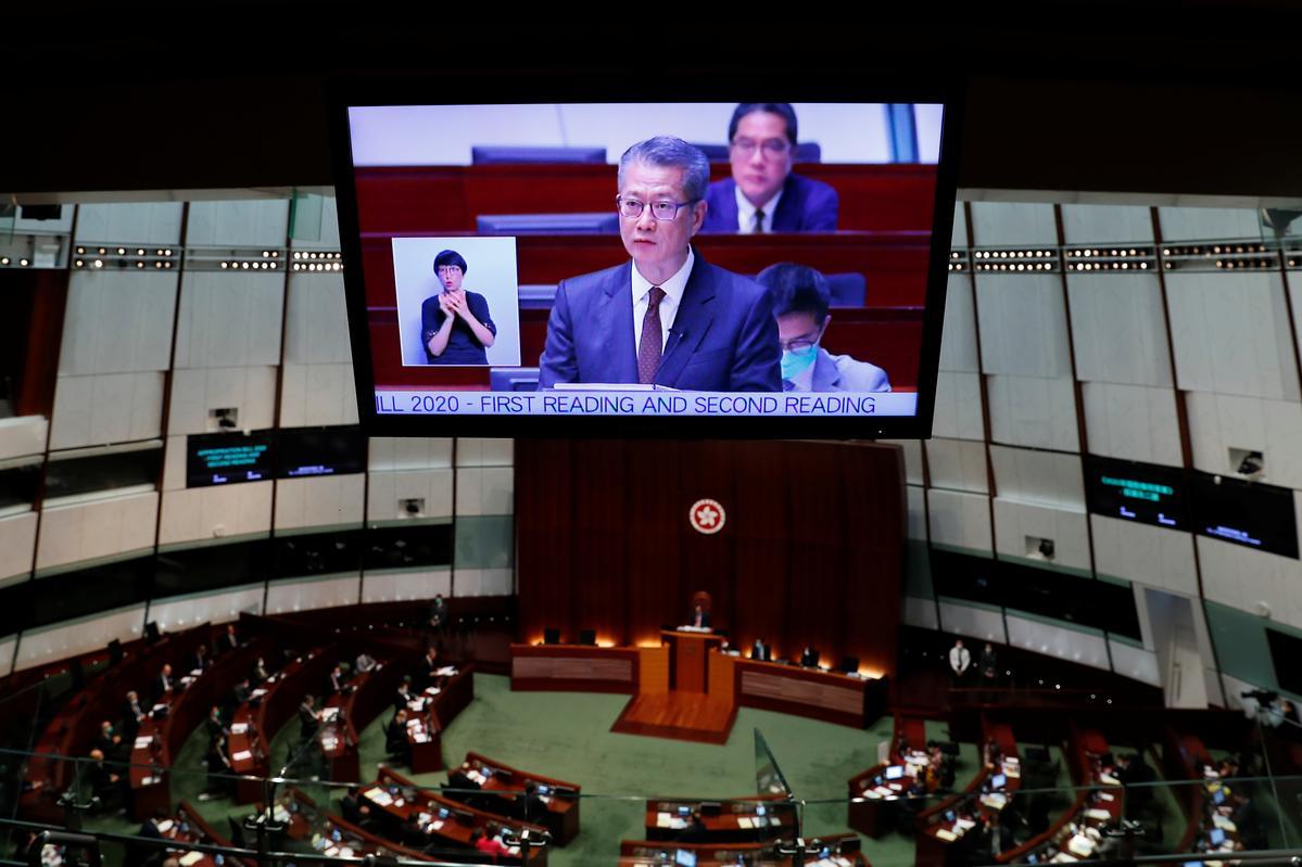 Hong Kong flags record budget deficit as virus, protests cripple economy