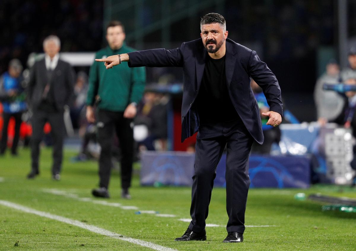 Gattuso says Napoli will use 'helmets and armour' at Barcelona