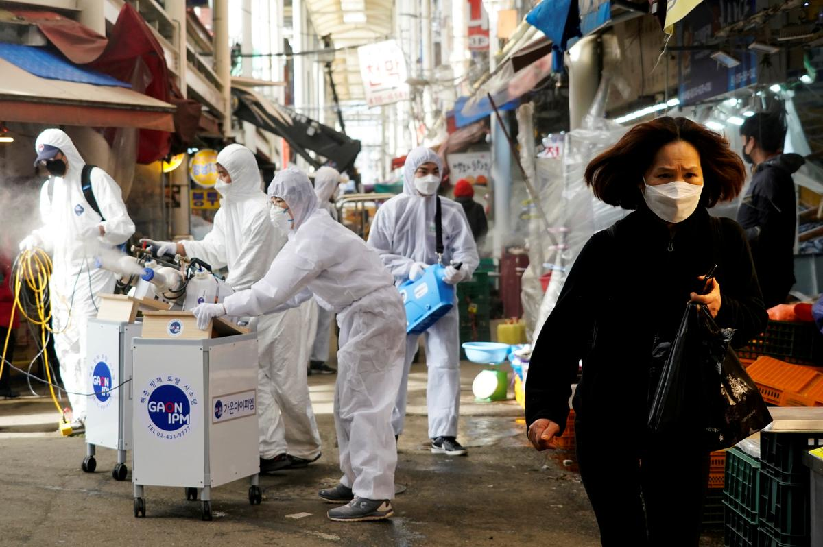 U.S. soldier infected as South Korea coronavirus cases rise above 1,260