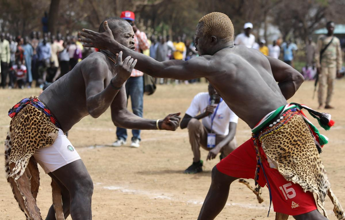 Wrestlers fight for peace in ravaged South Sudan