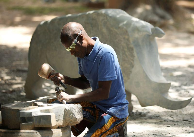 Zimbabwean artist's dynamic stone sculptures find global acclaim