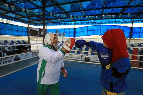 Pakistan's only woman boxing coach