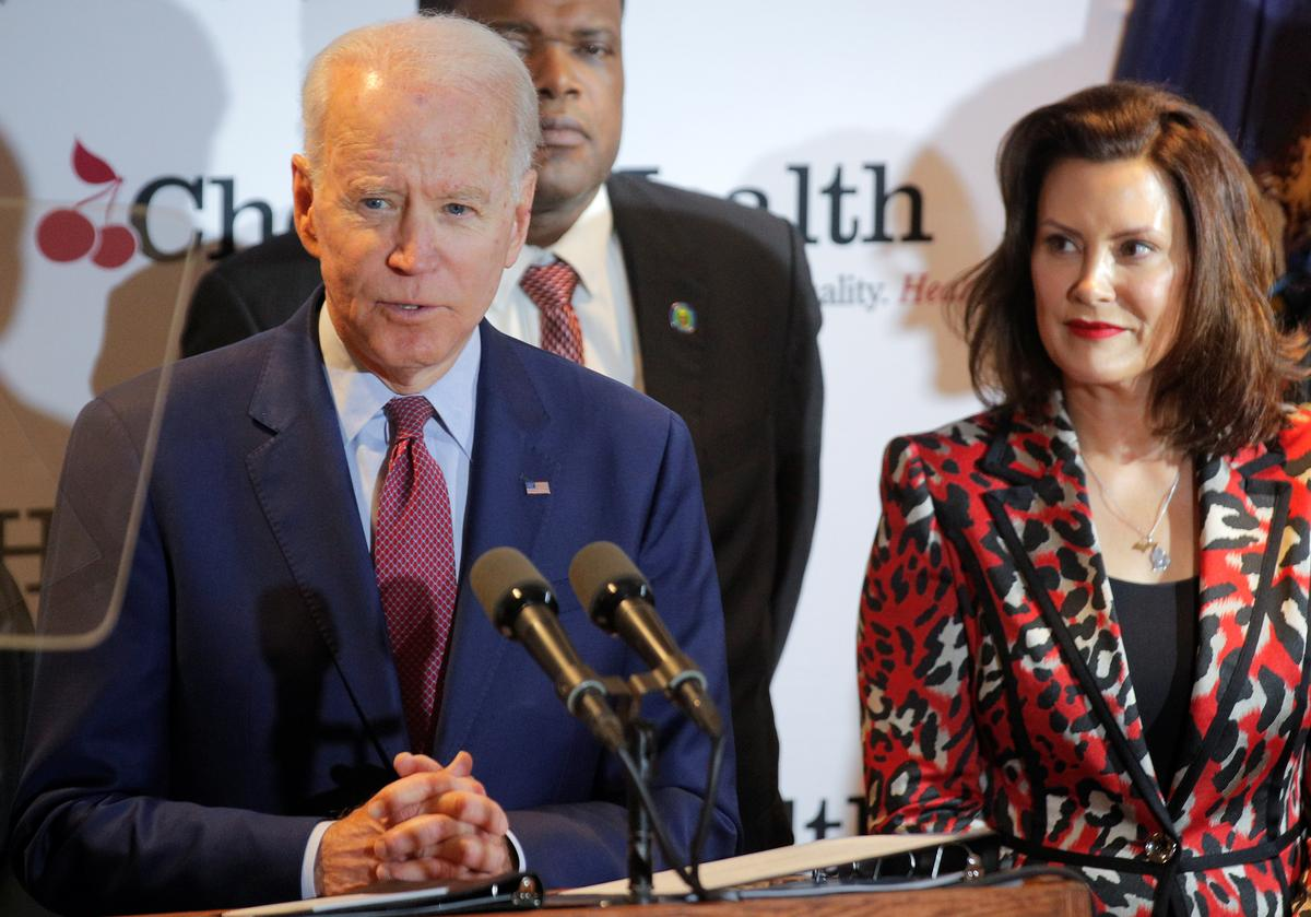 Biden gets backing from former presidential rival Booker on eve of Michigan vote