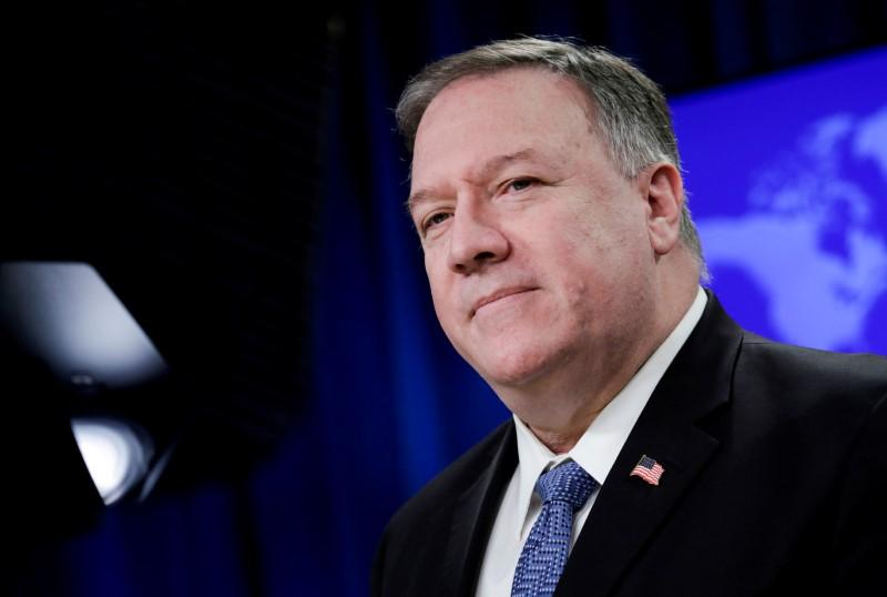 Pompeo meets Afghan political rivals during visit to Kabul