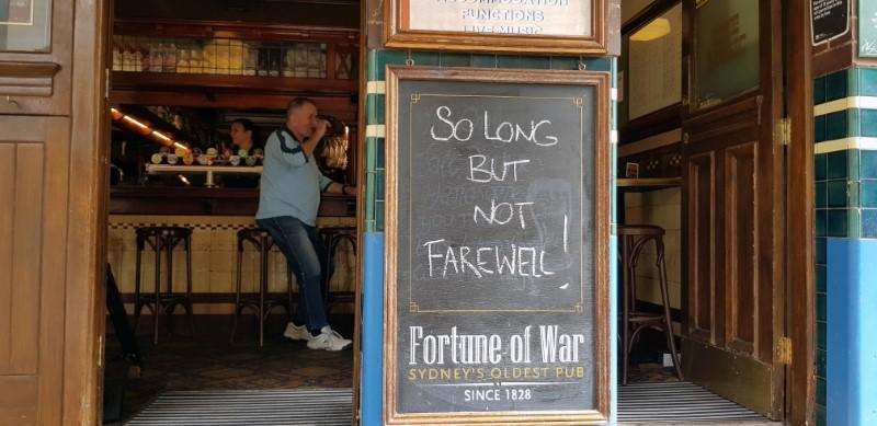 Australia calls last drinks as coronavirus hits hospitality business