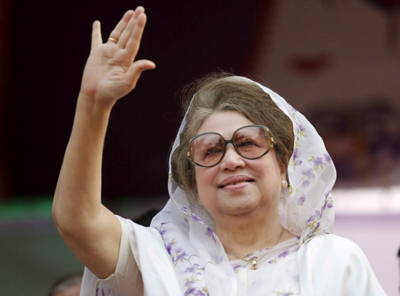 Bangladesh ex-PM Khaleda freed on humanitarian grounds, her party says
