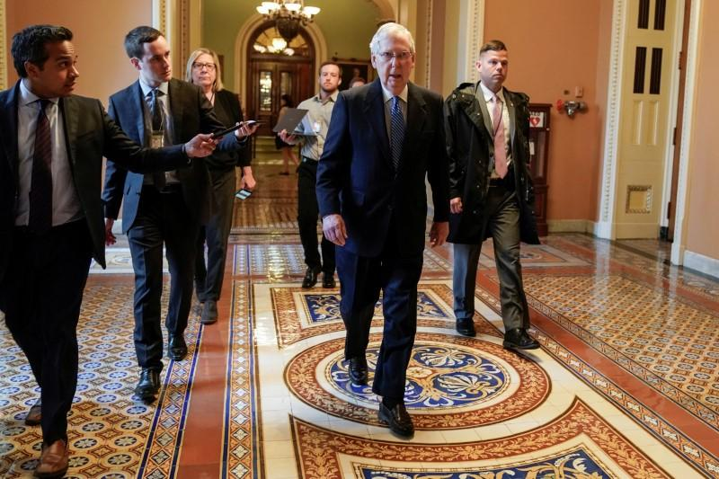 U.S. senators look to quickly pass massive coronavirus bill, head home