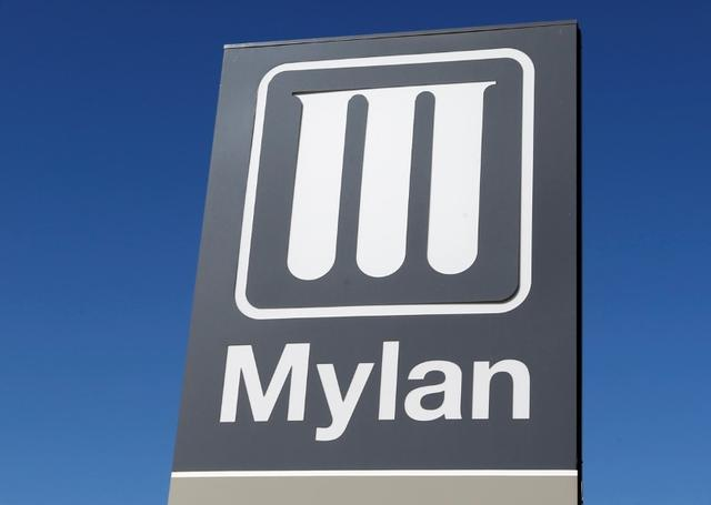 FILE PHOTO: Logo of Mylan Laboratories, a company primarily engaged in the commercialization of generic drugs is pictured in Merignac near Bordeaux, France, September 19, 2019. REUTERS/Regis Duvignau