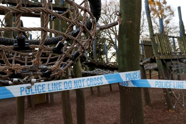 A play area is seen cordoned off with Police tape, as the spread of the coronavirus disease (COVID-19) continues, High Wycombe, Britain, March 26, 2020. REUTERS/Eddie Keogh