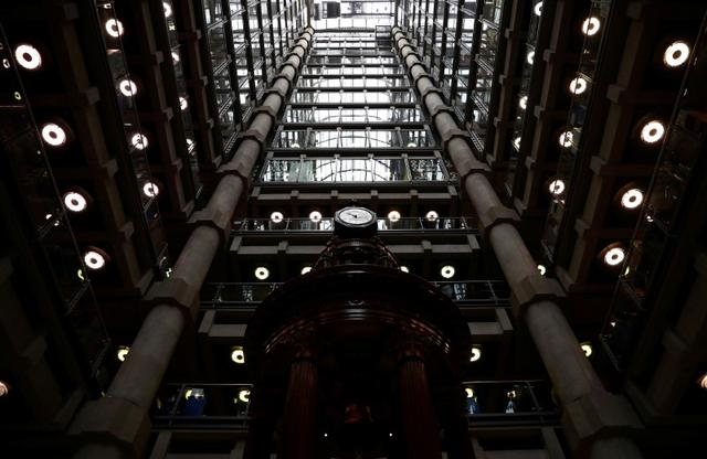 FILE PHOTO: The interior of the Lloyd's of London building is seen in the City of London financial district in London, Britain, April 16, 2019. REUTERS/Hannah McKay/File Photo
