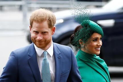 UK's Prince Harry and wife Meghan bid farewell to royal roles