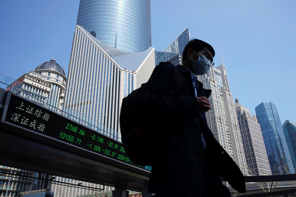 Asian stocks gain on hopes pandemic is approaching peak