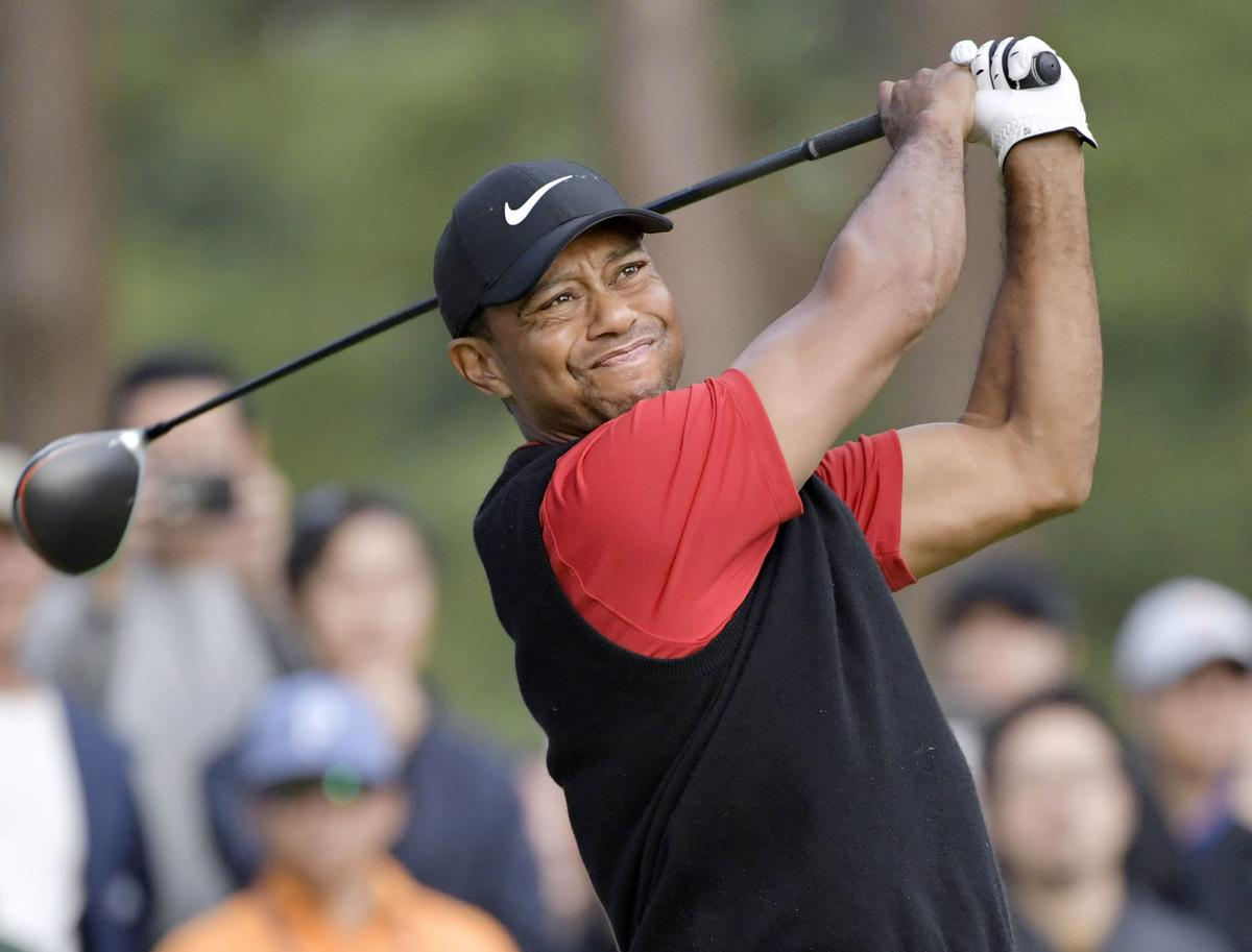 No Masters, so Woods battling son Charlie for green jacket