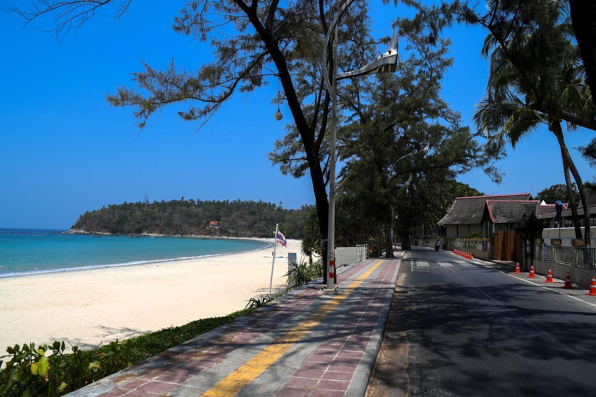 Sun, sea, sand and space as coronavirus empties Asia's beaches