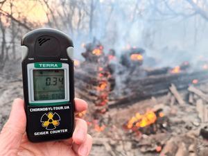 Fire raging near Ukraine's Chernobyl