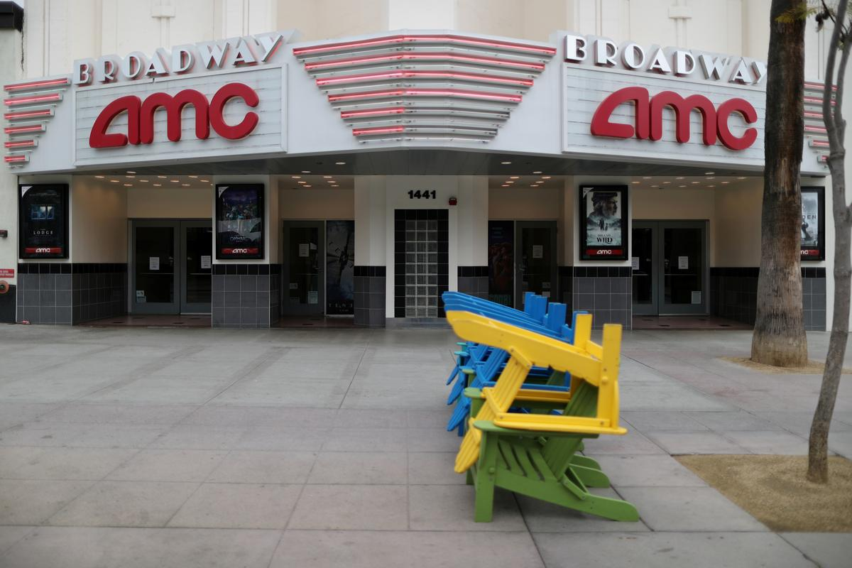 AMC says it has enough cash through July as movie theaters aim to re-open