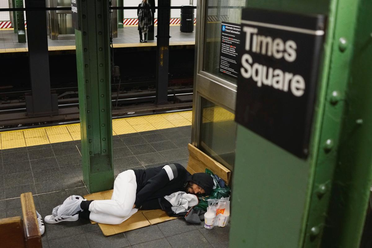 Special Report: A night on the New York subway - Homeless find shelter underground during pandemic