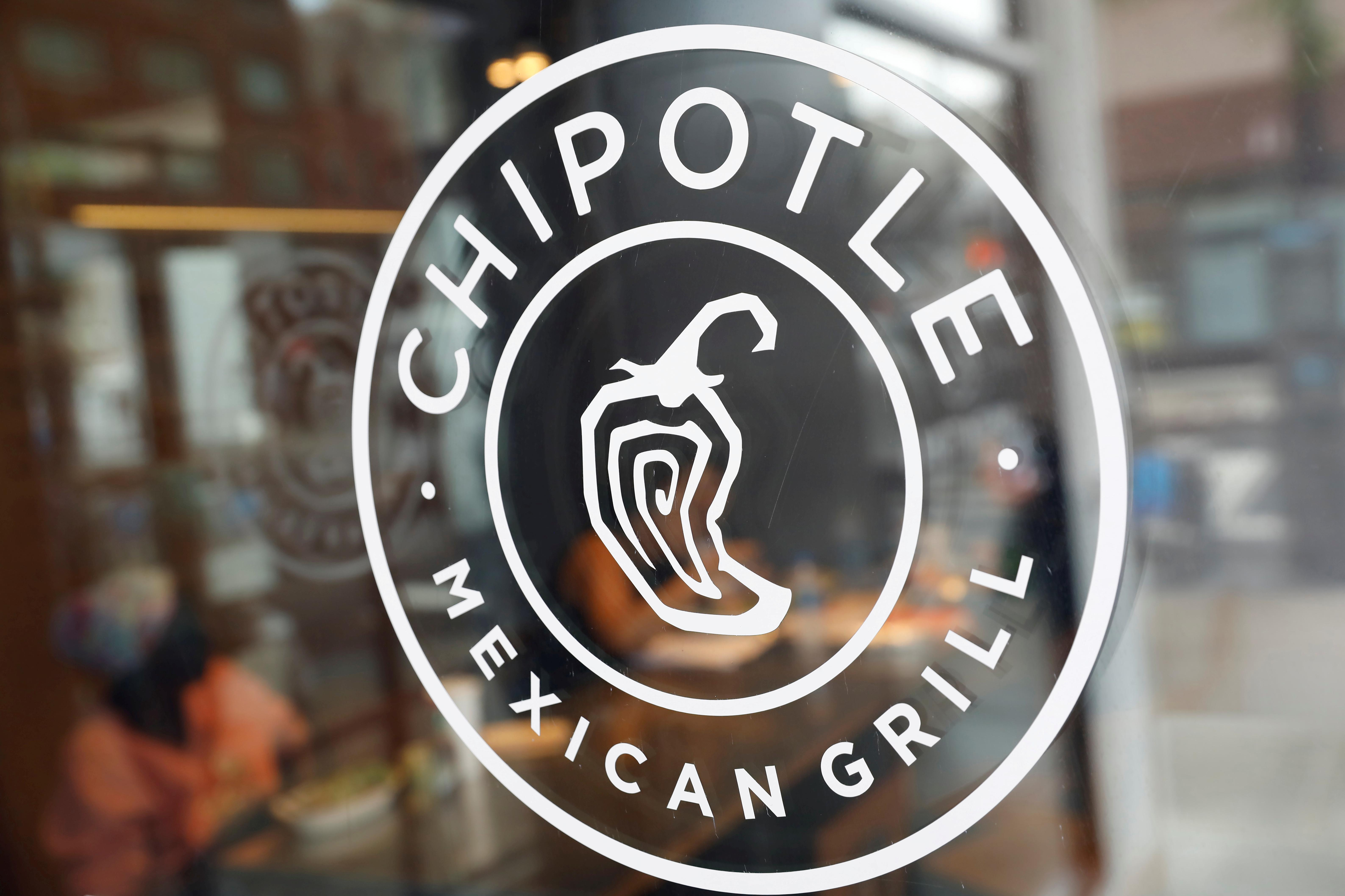 The logo of Chipotle Mexican Grill is seen at the Chipotle Next Kitchen in Manhattan, New York, U.S., June 28, 2018.  Shannon Stapleton
