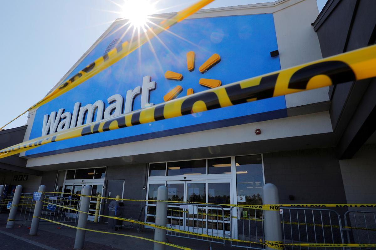 Walmart trailed supermarkets amid peak panic-buying: data
