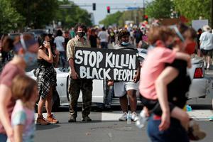 Protest in Minneapolis after unarmed black man dies in custody