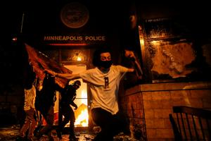 Protests rage in Minneapolis over police killing of George Floyd